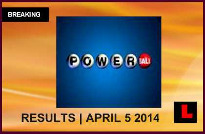 Powerball Winning Numbers April 5 Results Tonight 2014 Released