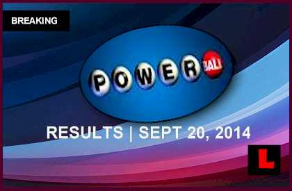 Powerball winning numbers 9 20 14 results tonight get revealed live