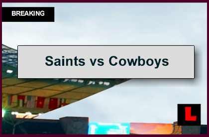 Saints vs Cowboys 2014 Score Ignites Sunday Football Primetime