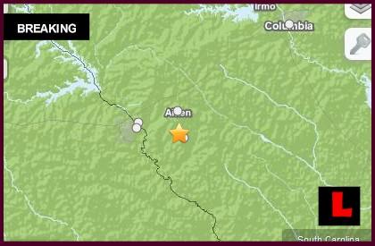 South Carolina Earthquake Today 2014 Strikes Aiken