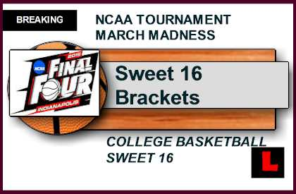 picture regarding Sweet 16 Printable Bracket named Lovable 16 Bracket 2015 Printable Agenda Ignites March