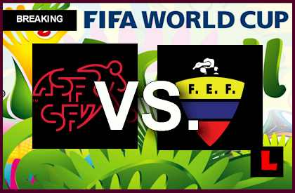 Suiza vs. Ecuador 2014 Copa Mundial Score Delivers En Vivo Soccer Group E